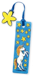16011, Glitter Bookmark Unicorn