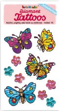 43007, Diamond Tattoo Butterflies