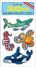 49019, Glittertattoo Sea Animals