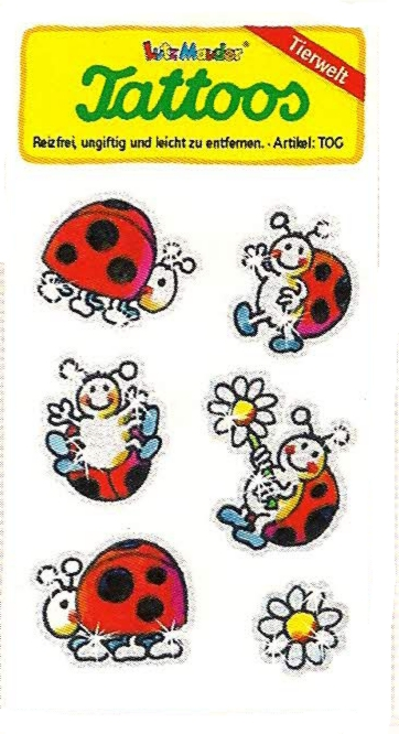 49024, Glitter Tattoo Ladybirds