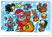 86401, Santa with Animals