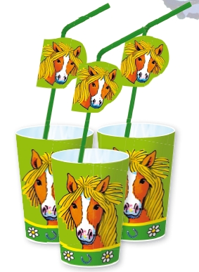 Horse Cups & Straws